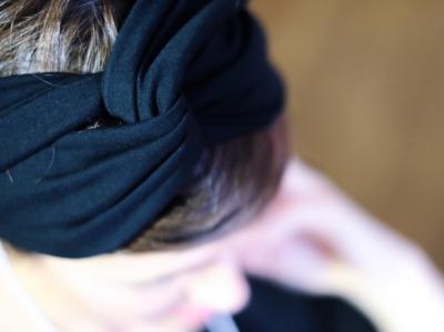Haarband - Offen // Schwarz