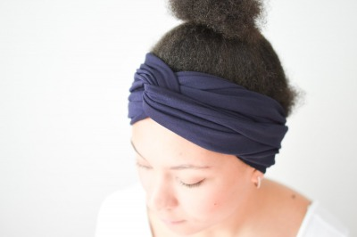 Haarband - Offen // Dunkelblau