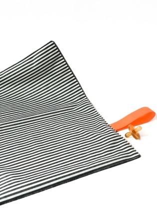 Wickelunterlage - Gestreift // Neon Orange