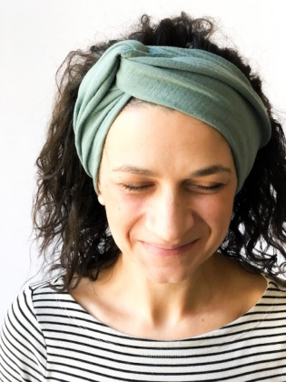Haarband - Offen // Musselin Salbei