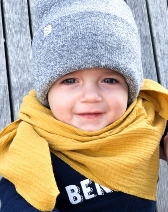 Musselintuch Baby - Senfgelb