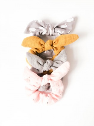 4er Set Scrunchie // Haargummi Musselin