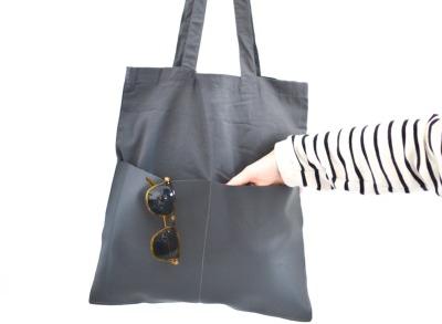 Shopper Tasche - Grau // Grau