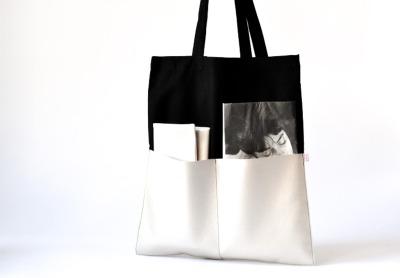 Shopper - Schwarz // Perlmutt