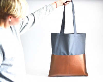 Shopper - Grau // Kupfer