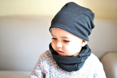 Beanie Junge - Anthrazit // Hellgrau