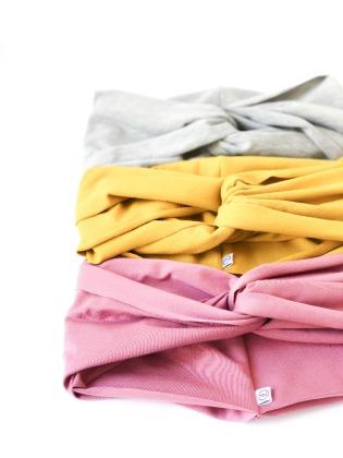 Turbanhaarband extra breit Jersey // Altrosa