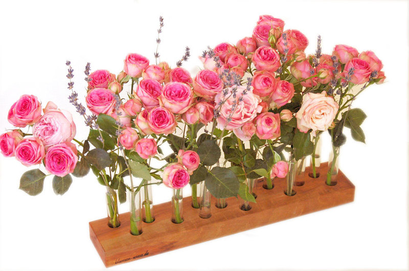 Blumenvase aus Kirschbaum 15