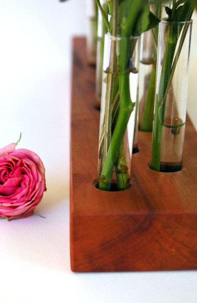 Blumenvase aus Kirschbaum 15 3