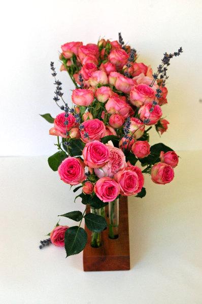 Blumenvase aus Kirschbaum 15 4