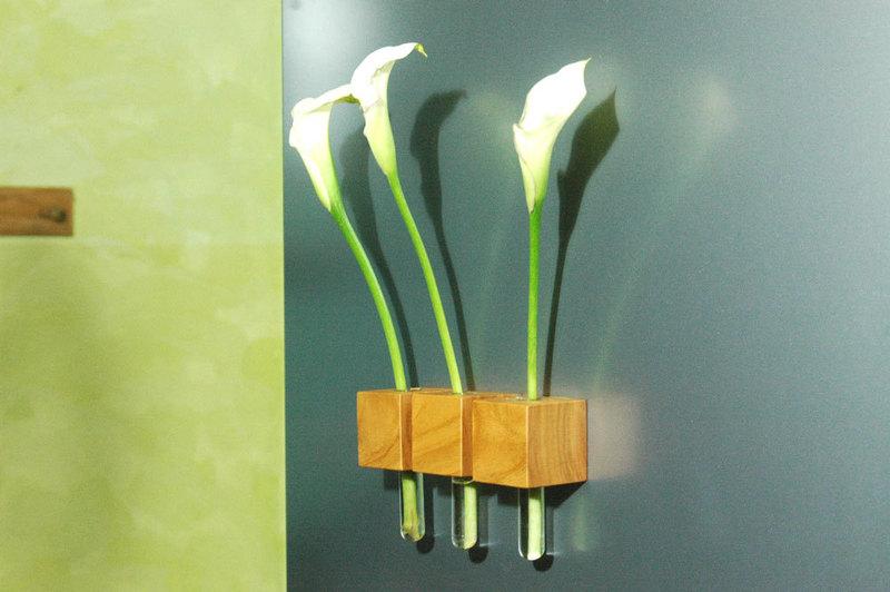 14 Vase 3er Satz Kühlschrankmagnet aus