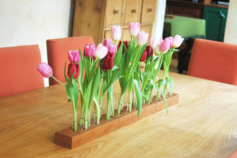 Vase aus Kirschbaum 3 - 4