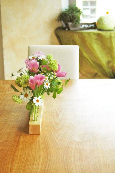 Vase aus Ahornholz 12