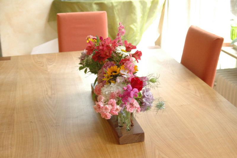 Vase aus Nussbaum 8 4