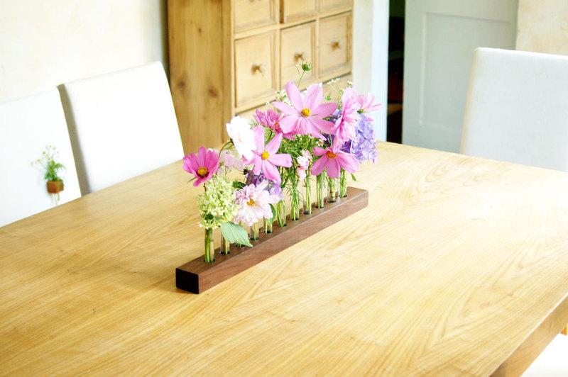 Blumenvase in Nuss Blumenwiese Reagenzglasvase - 1