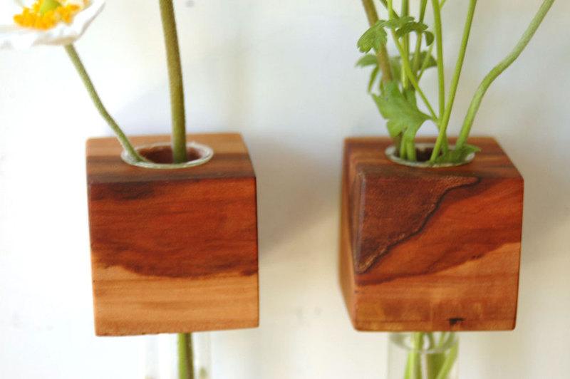 1 Vase Kühlschrankmagnet Holz Magnet 2