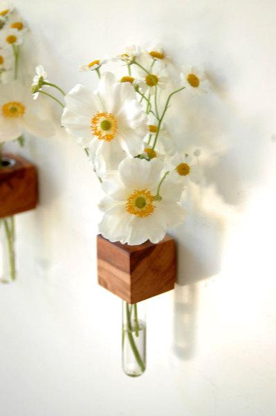 1 Vase Kühlschrankmagnet Holz Magnet 3