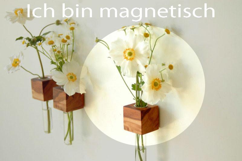 1 Vase Kühlschrankmagnet Holz Magnet 4