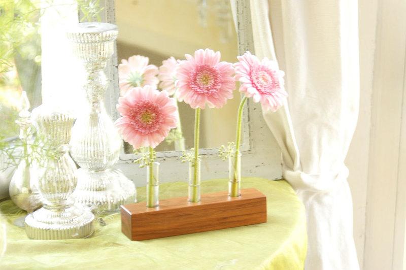 21 Blumenvase aus Nuss - 1