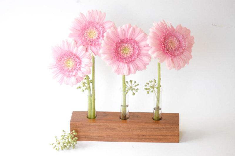 21 Blumenvase aus Nuss - 4