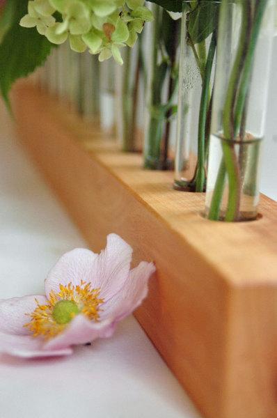 Vase aus Holz Blumenwiese Blumenvase aus - 2