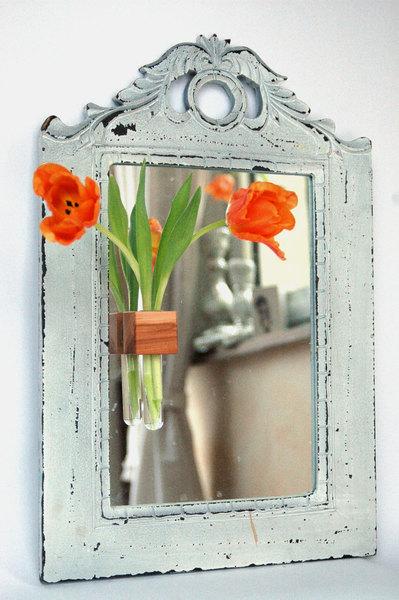 Fenstervase in Apfel Vase mit Reagenzglas - 1