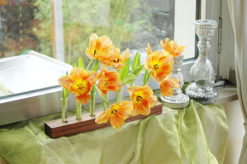 Blumenvase in Nuss 10 3