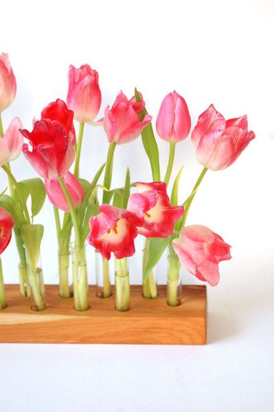 Vase aus Kirscholz 15 Mini 3