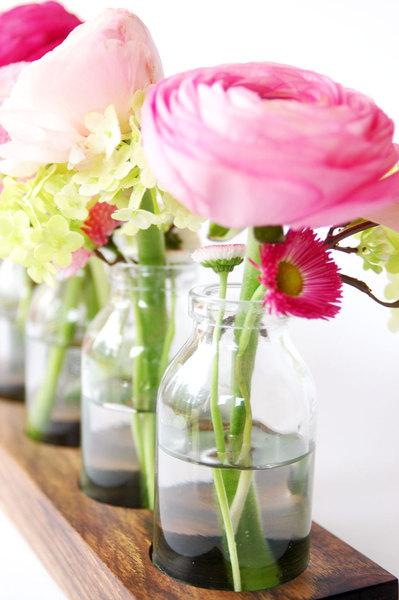 6 Milchkanne aus Nuss Vase aus