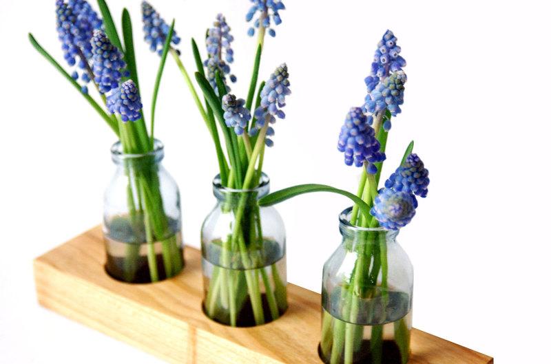1 Milchkanne aus Kirsche Blumenvase Vase Holz