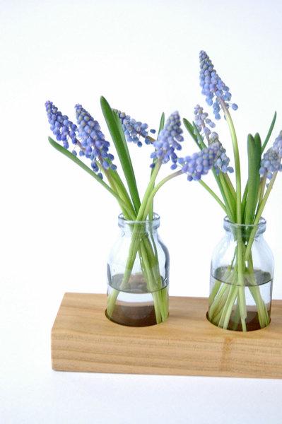 1 milchkanne aus kirsche blumenvase vase holz blumen wiese. Black Bedroom Furniture Sets. Home Design Ideas