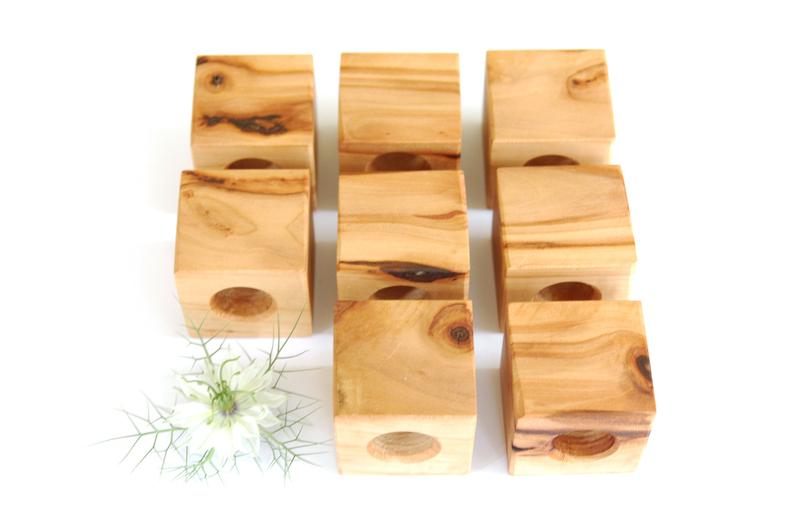 3 Kühlschrankmagnet - Apfelholz 3