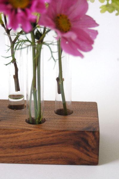 Vase aus Nussbaum 15 3