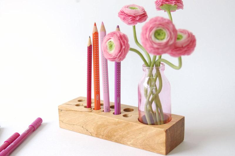 10 Stifthalter mit Blumenvase - 3