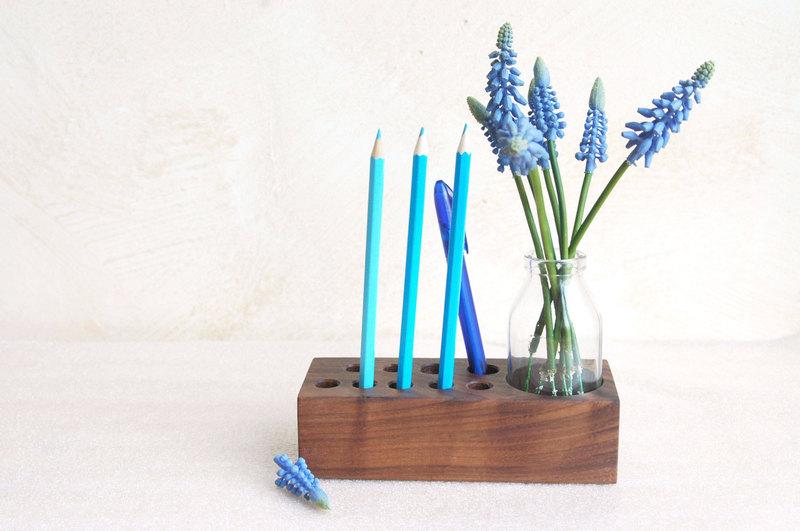 Stifthalter mit Blumenvase Aufbewahrung Stifte - 1
