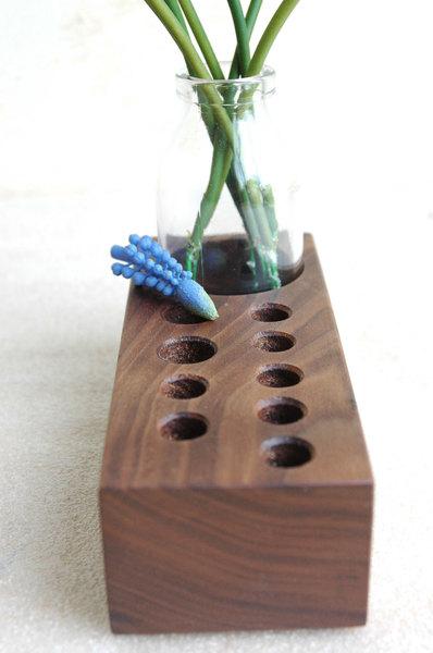 Stifthalter mit Blumenvase Aufbewahrung Stifte 2