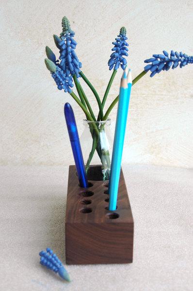 Stifthalter mit Blumenvase Aufbewahrung Stifte 3