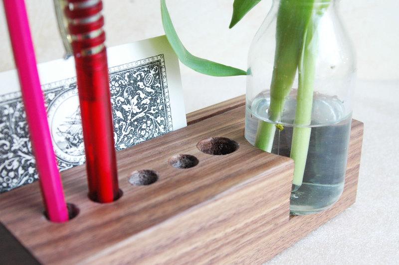 2 Stifthalter mit Vase und Kartenhalter - 4