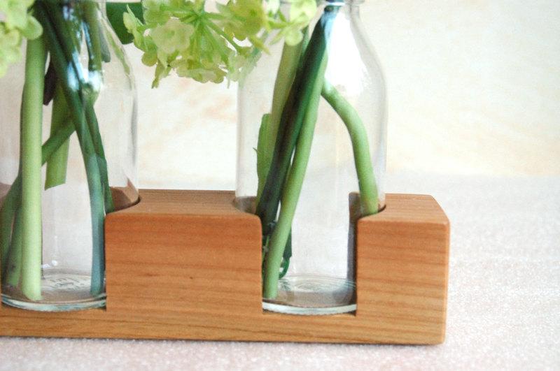 3 Milchkanne aus Kirsche Vase Holzvase - 2