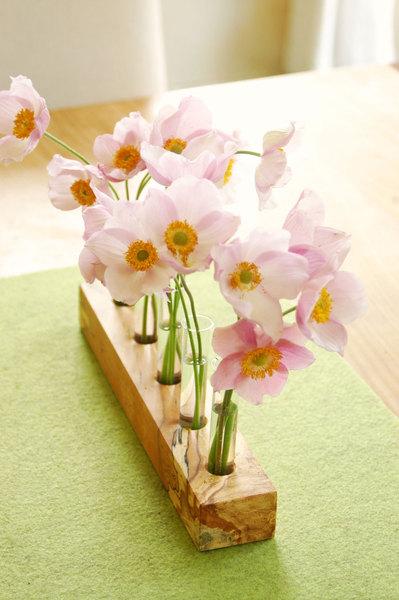Blumenwiese Vase mit Reagenzgläsern Blumenvase 2