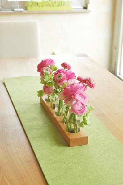 5 Milchkanne aus Kirsche,Blumenvase,Vase - 1