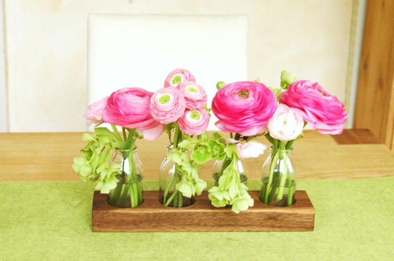 4 Milchkanne aus Nuss, Holzvase, Blumenvase,Vase - 2
