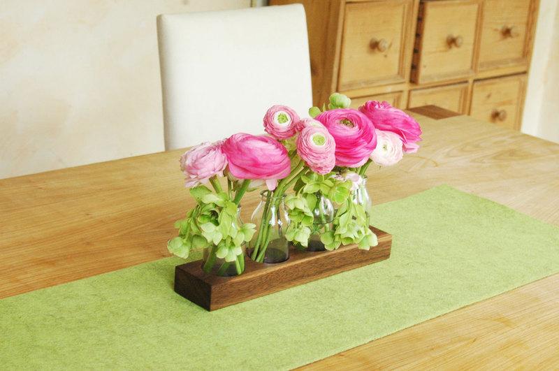 4 Milchkanne aus Nuss Holzvase BlumenvaseVase - 4