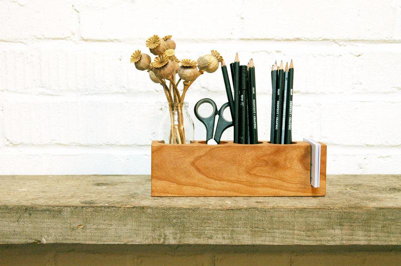 Stifthalter mit Vase und ZettelhalterAufbewahrung - 1