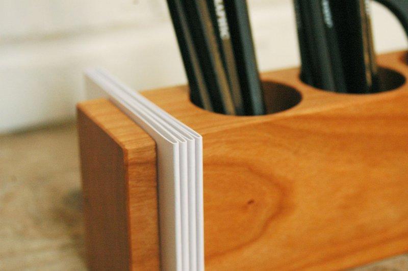 Stifthalter mit Vase und ZettelhalterAufbewahrung - 2