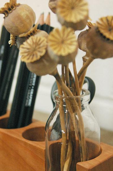 Stifthalter mit Vase und ZettelhalterAufbewahrung - 4