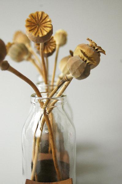 3 Milchkanne aus Nuss, Vase, Blumenvase, Holz