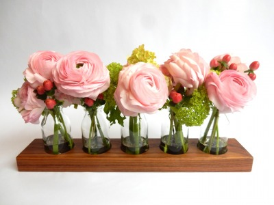 5 Milchkanne aus Nuss Vase aus