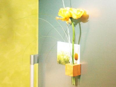 14 Vase - Kühlschrankmagnet aus Kirschbaum