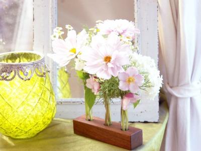 22 Blumenvase aus Nuss